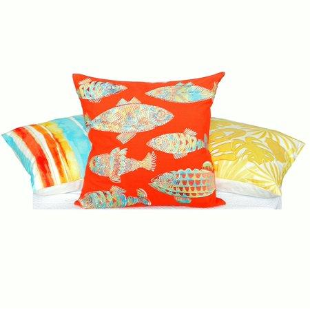 Tommy Bahama 214058 Watercolor Stripe Decorative Pillow, Multi Orange, 20' x 20' ()