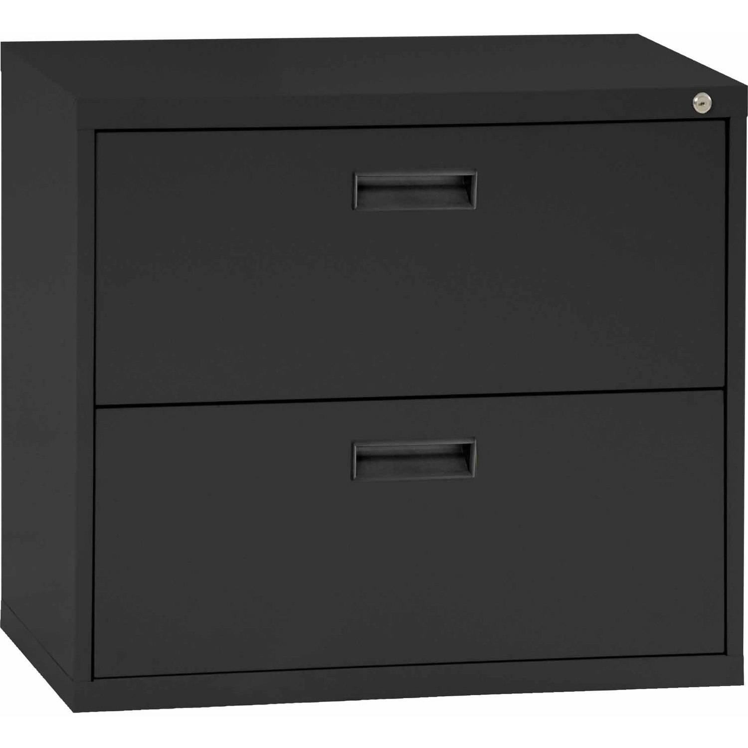 Sandusky Steel Lateral File Cabinet With Plastic Handle, 2 Drawers, E202L 09