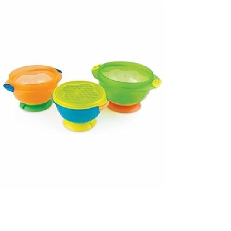 Munchkin Stay Put Suction Bowl, 3 Count , 2 pack (Munchkin Love A Bowls 10 Piece Set)