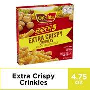 Ore-Ida Ready in 5 Extra Crispy Crinkles Fries, 4.75 oz Box