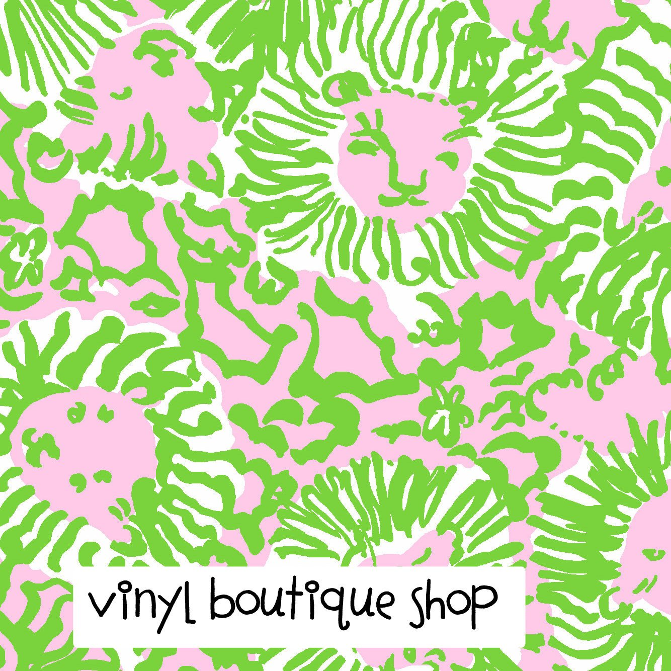 Sunnyside Green Lilly Inspired Printed Patterned Craft Vinyl