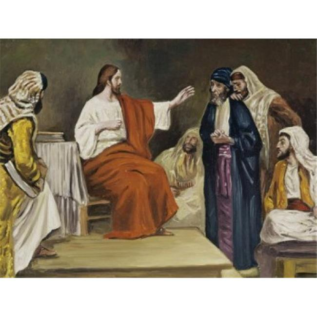 Posterazzi SAL900108755 Jesus in the Synagogue Robert Leinweber 1845-1915 German Poster Print - 18 x 24 in. - image 1 of 1