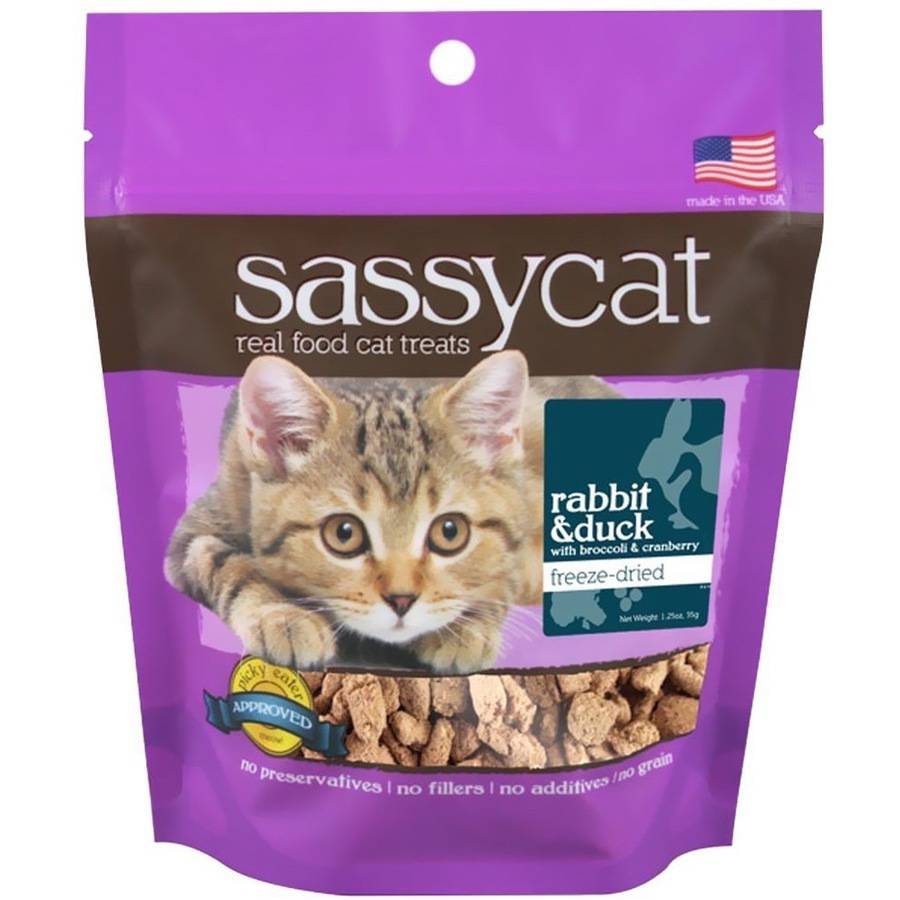 Herbsmith Sassy Cat Treats, Rabbit and Duck with Broccoli and Cranberries