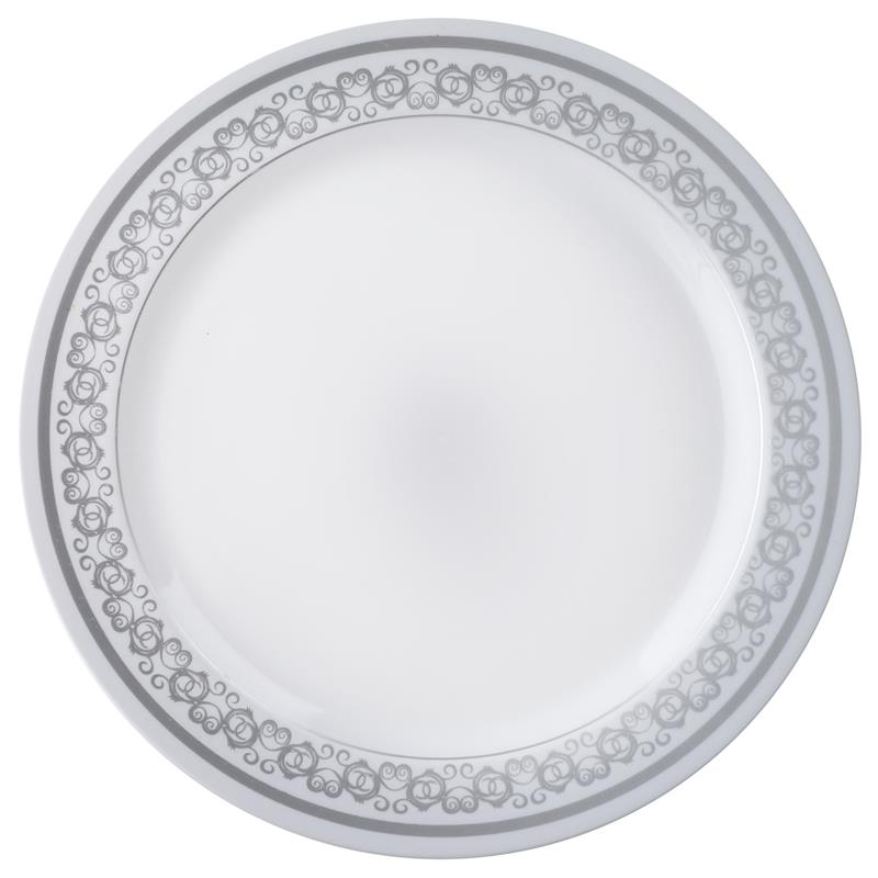 BalsaCircle 10 pcs Disposable Plastic Plates with Trim for Wedding Reception Party Buffet Catering Tableware  sc 1 st  Walmart & BalsaCircle 10 pcs Disposable Plastic Plates with Trim for Wedding ...