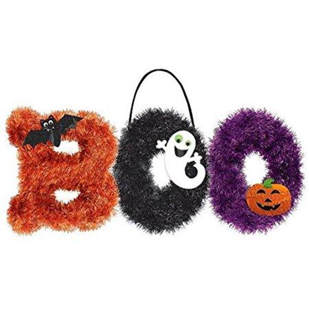 HALLOWEEN BOO TINSEL DECORATION](Boo Decorations Halloween)