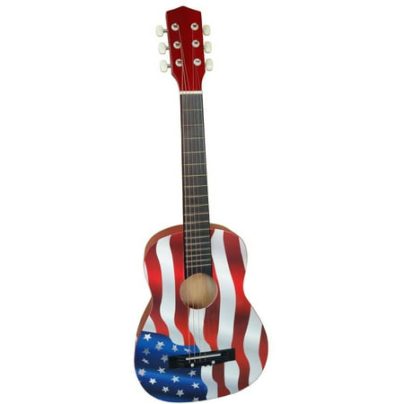 """Acoustic Toy Guitar Flag, 30"""""""