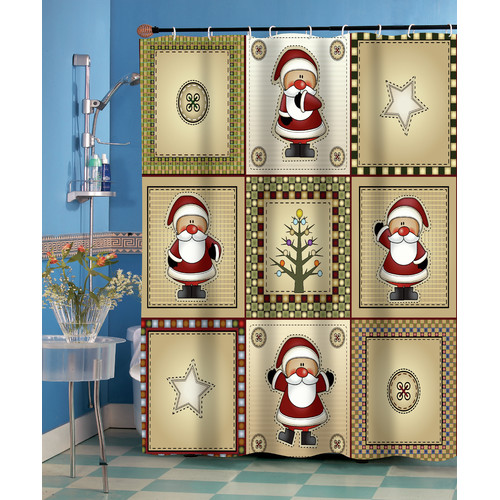 """Americana Holiday"" Fabric Shower Curtain"