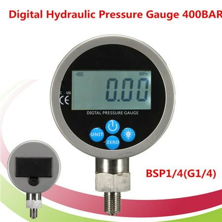 Digital Hydraulic Pressure Gauge 400BAR 700BAR 10000PSI BSP1/4(G1/4) Connector