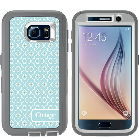 OtterBox Defender Series 3 Layer Protection Case With Screen Protector And Holster for Samsung Galaxy S6 - Non-Retail Packaging - Grey Sky