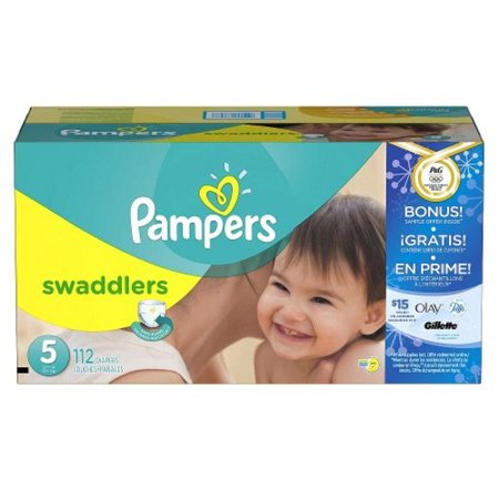 9c8c0b3863e Pampers Swaddlers Diapers Super Economy Pack with Bonus Sample Offer (Size  5 - 112 Count) - Walmart.com