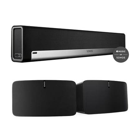 Sonos Multi-Room Digital Music Set with PLAYBAR and PLAY:5 Speakers (Black)