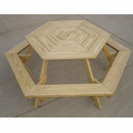 TLC Enterprises Ft Hexagon Picnic Table Walmartcom - Hexagon picnic table for sale