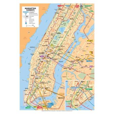 Michelin Official Manhattan Subways Map Art Print Poster - 13x19