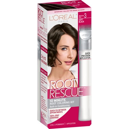 L\'Oreal Root Rescue Soft Black 3 Root Coloring Kit - Walmart.com