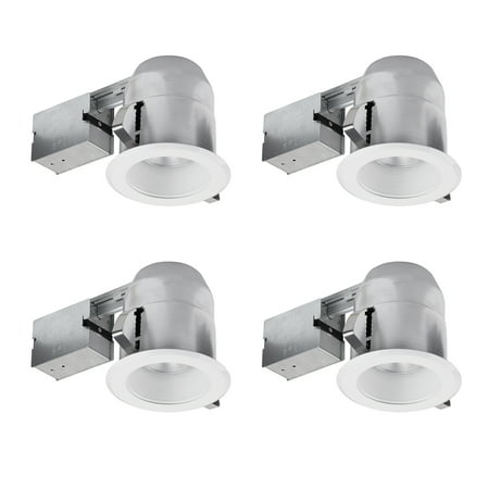 Globe Electric 5 in. White Recessed Lighting Kit (4-Pack), 91014