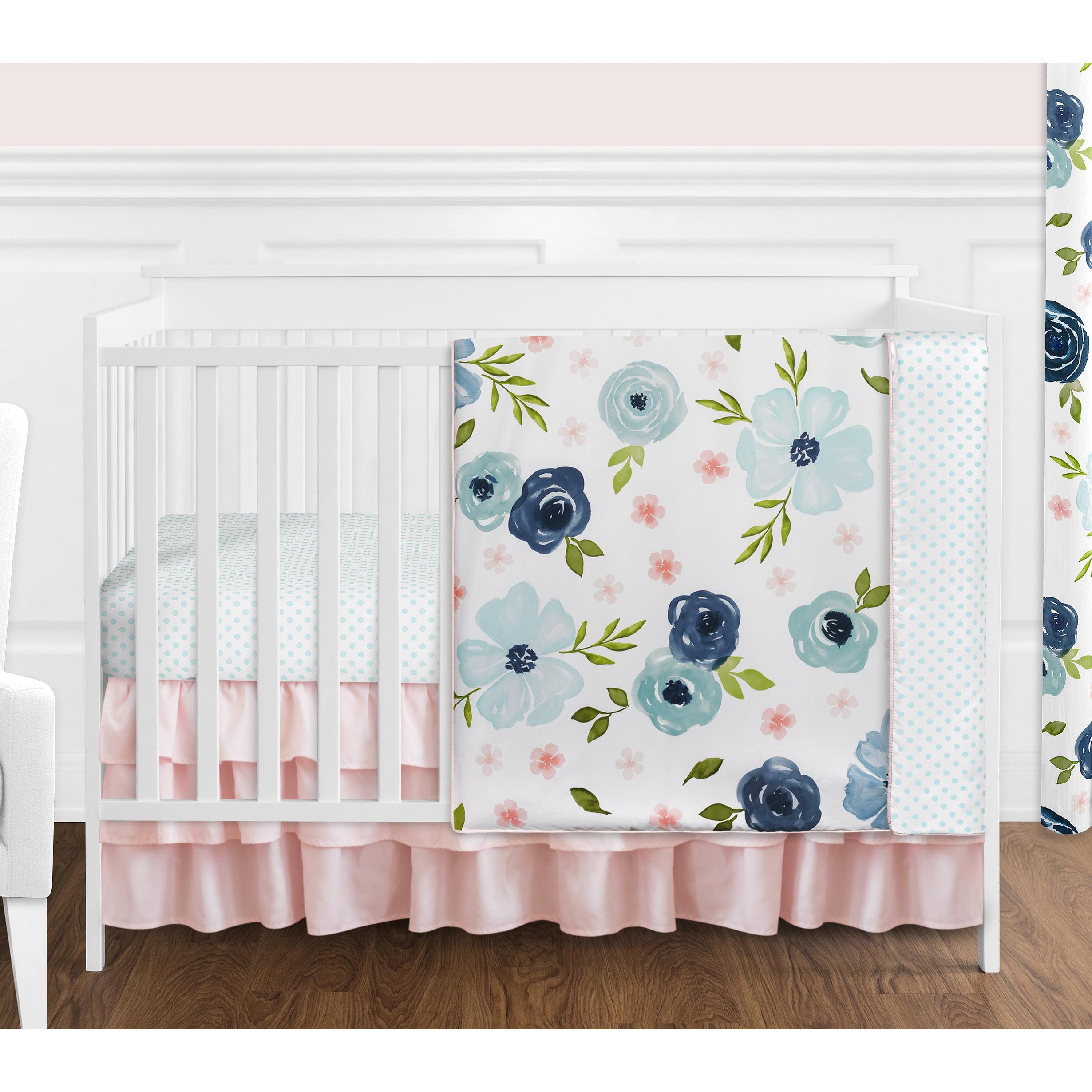 Pink purple floral crib bedding Vintage floral Sweet girls crib sheet Kids bedding Pink blue Floral Toddler pillowcase Boppy cover Lilac