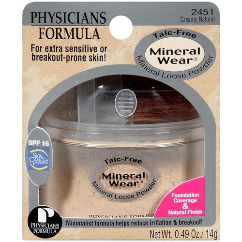 Phyicians Formula Talc-Free 2451 Creamy Natural Mineral Loose Powder .49 Oz