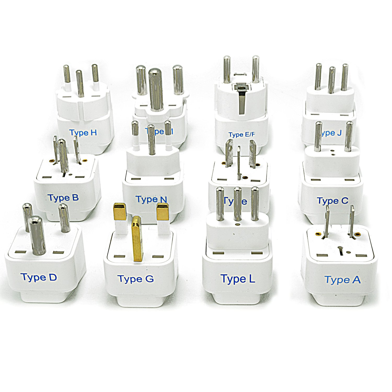 Ceptics Complete International Grounded Universal Travel Plug Adapter Set of 12