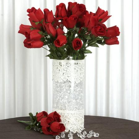 balsacircle 84 velvet rose buds flowers for wedding party centerpieces. Black Bedroom Furniture Sets. Home Design Ideas