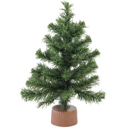Canadian Pine Christmas Tree in Faux Wood Base ()