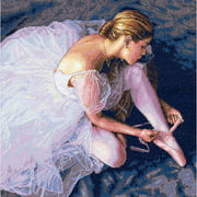 "Dimensions Gold Collection ""Ballerina Beauty"" Counted Cross Stitch Kit, 14"" x 14"" Half Cross Stitch Used"