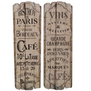 Selectives Paris Caf  2 Piece Textual Art Set