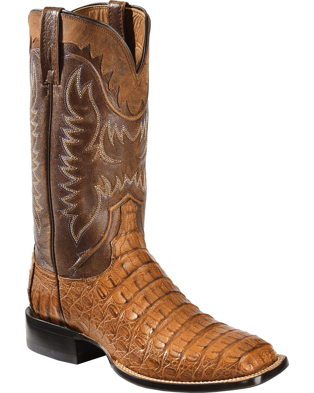 a38b166017d Lucchese Men's Handmade 1883 Rhys Hornback Caiman Cowboy Boot Square Toe -  M4549