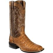 Lucchese Rhys HB Caiman Men US 13 Tan Western Boot