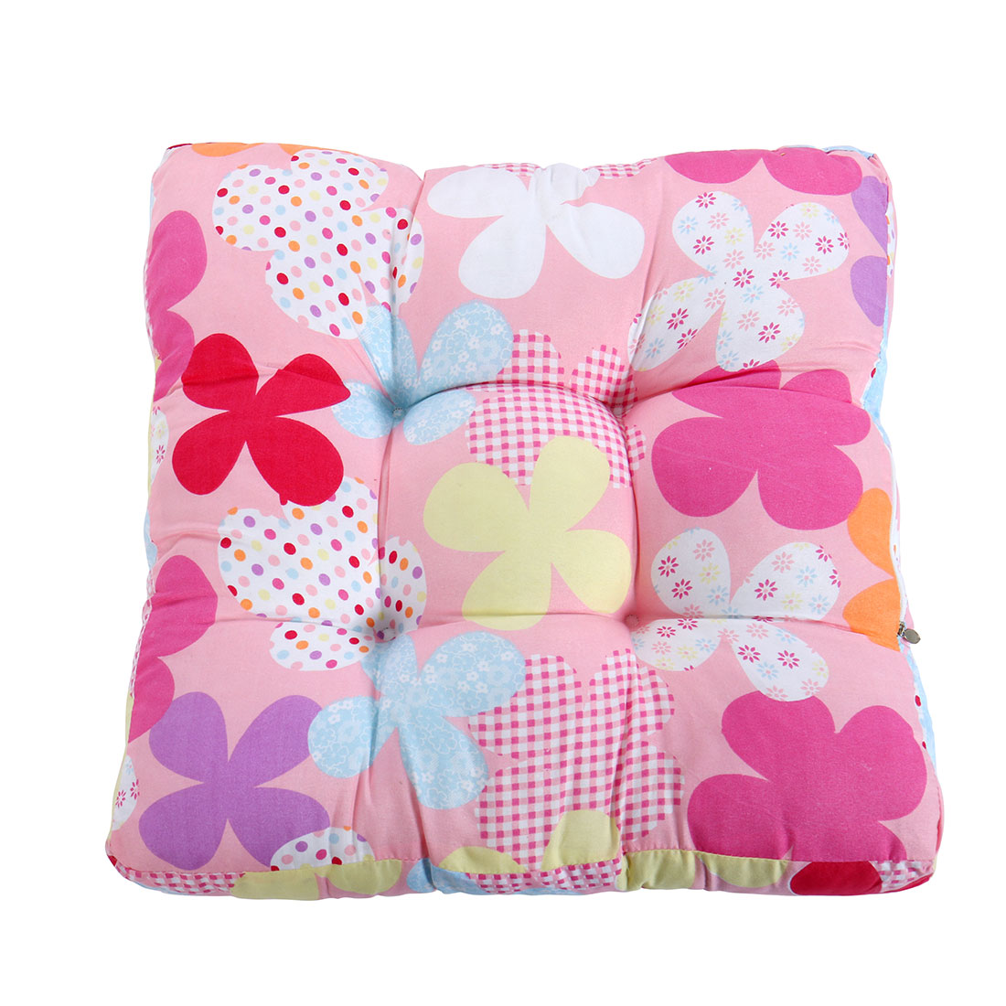 Car  50 x 50cm Cotton Blends Flower Pattern Square Back Support Chair Cushion