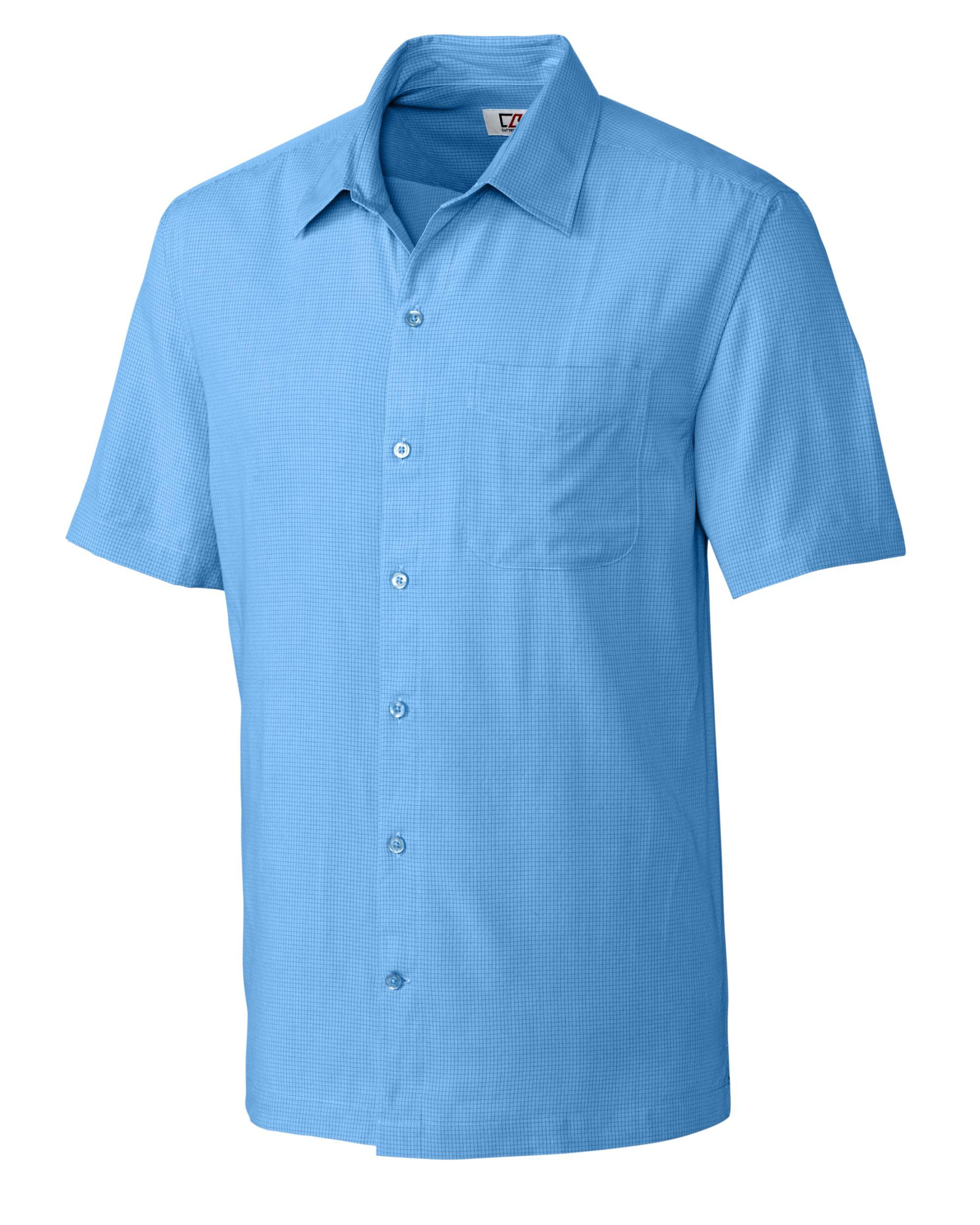 Cutter & Buck Men's Short Sleeve Solana Mini Check Shirt - MCW09520