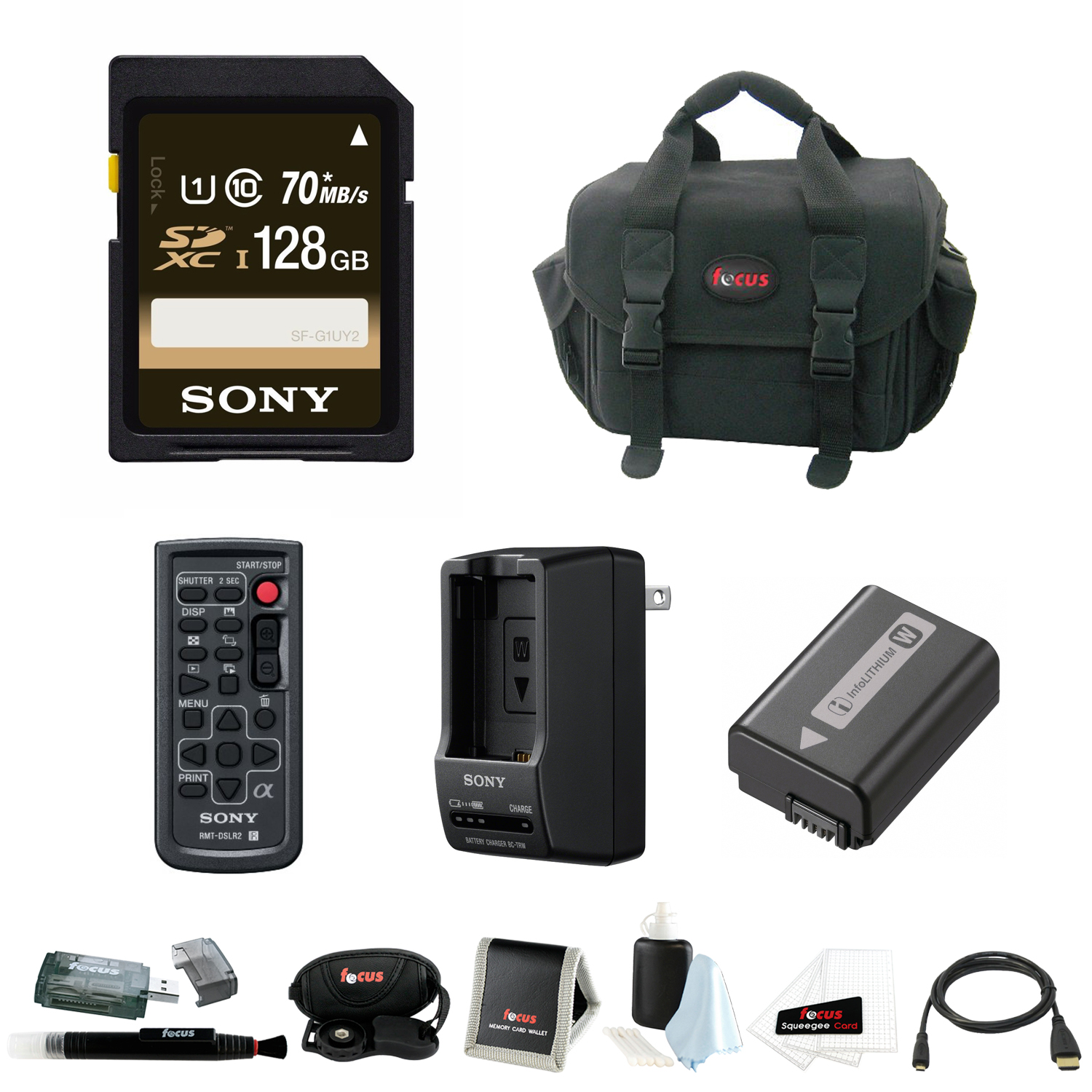 Sony Alpha ILCE7 Series Deluxe Accessory Bundle with 128G...