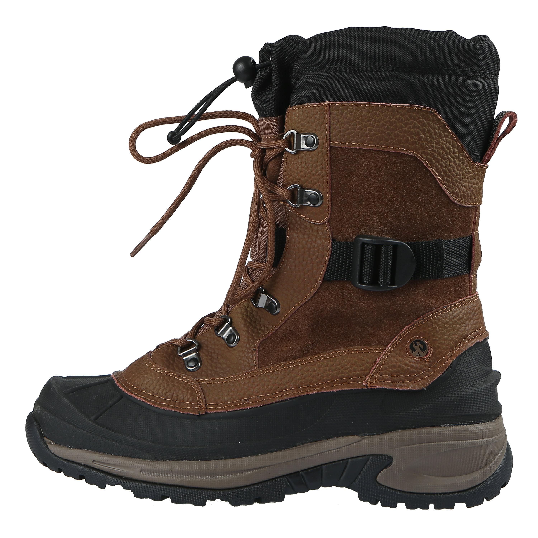 Northside Mens Bozeman 400 Gram Waterproof Insulated Leather Winter Snow Boot