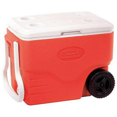 Coleman 40-Quart Wheeled Cooler, Red - Walmart.com
