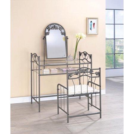 Transitional Nickel Bronze Vanity Set ()