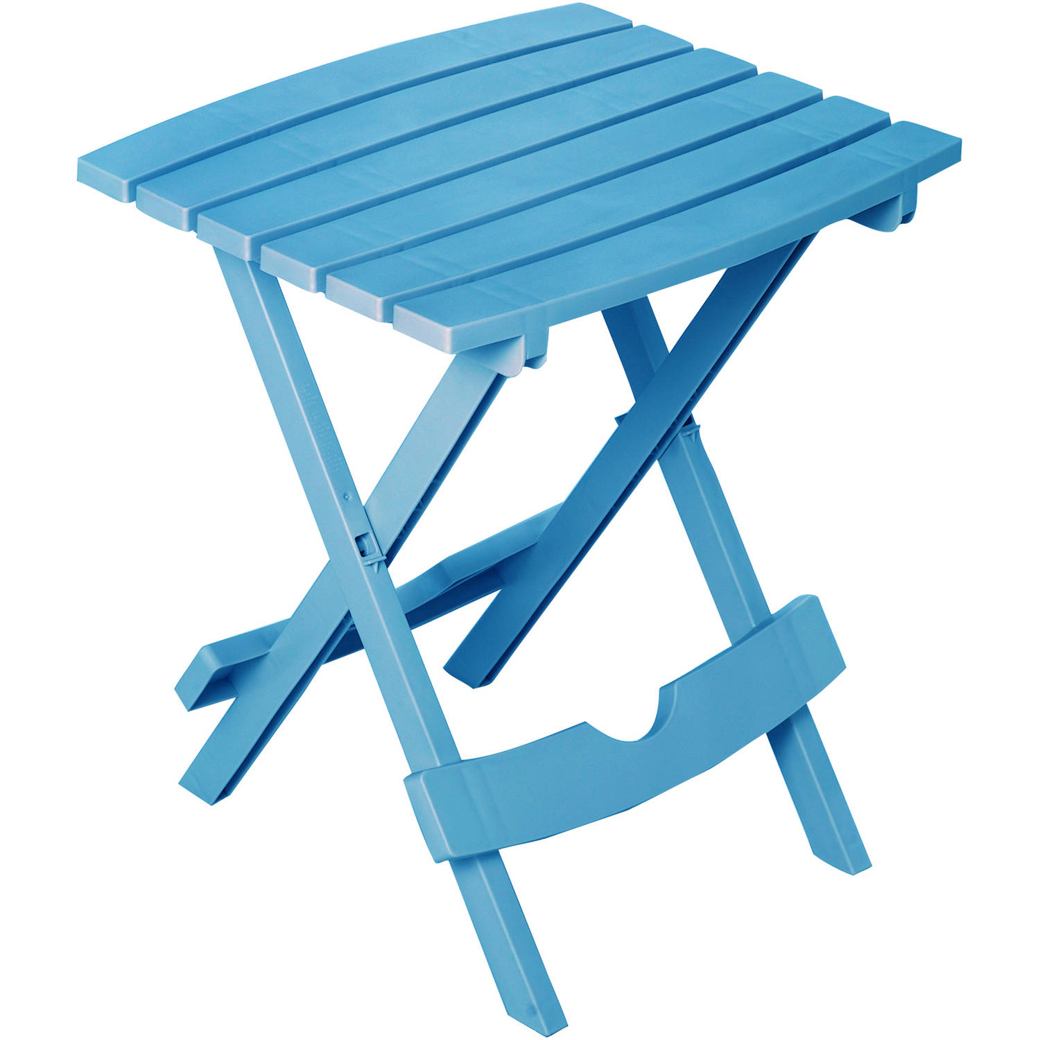 Adams Manufacturing Quik-Fold Side Table, Pool Blue