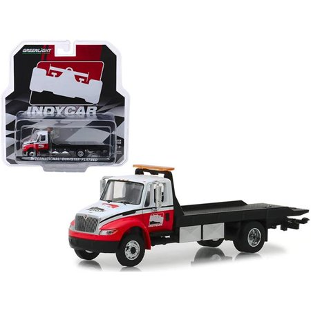International Durastar Flatbed Truck White and Red