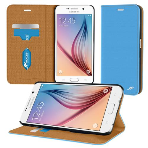 rooCASE Galaxy S6 Wallet Case, Premium Esteem Wallet Flip Cover with Card ID Holder for Samsung Galaxy S6 (2015)
