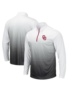 Oklahoma Sooners Colosseum Magic Team Logo Quarter-Zip Jacket - Gray