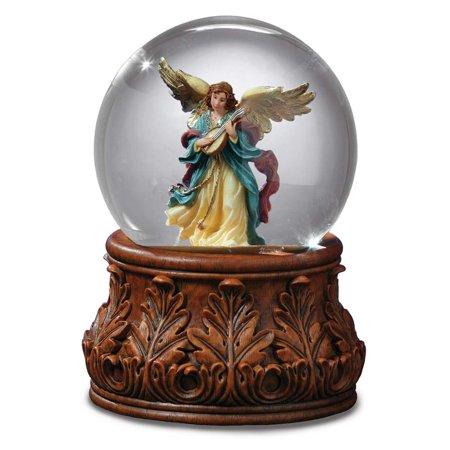 Angel Playing Mandolin Water Globe The San Francisco Music Box Company