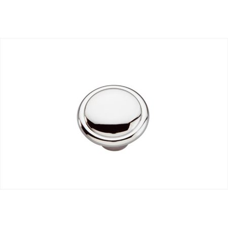 1.37 In. Conquest Polished Chrome Cabinet - Bright Chrome Knob