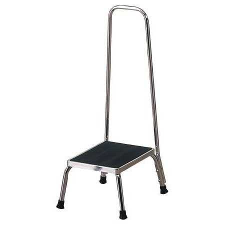 Step Stool entrust Performance 1-Step Chrome Plated Steel 8-3/4 Inch