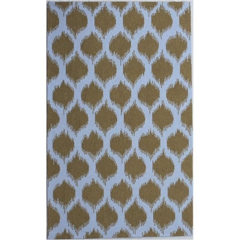 Bowery Hill 5' x 8' New Zealand Wool Rug in Mustard Yellow