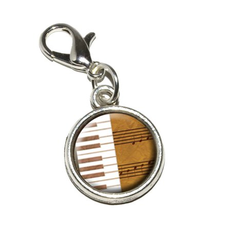 Piano Keys and Scales Gold - Music Notes Sheet Music Bracelet Charm