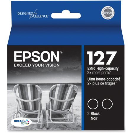 Epson, EPST127120D2, Dual Pack 127 Extra High-Capacity Ink Cartridges, 2 / Each