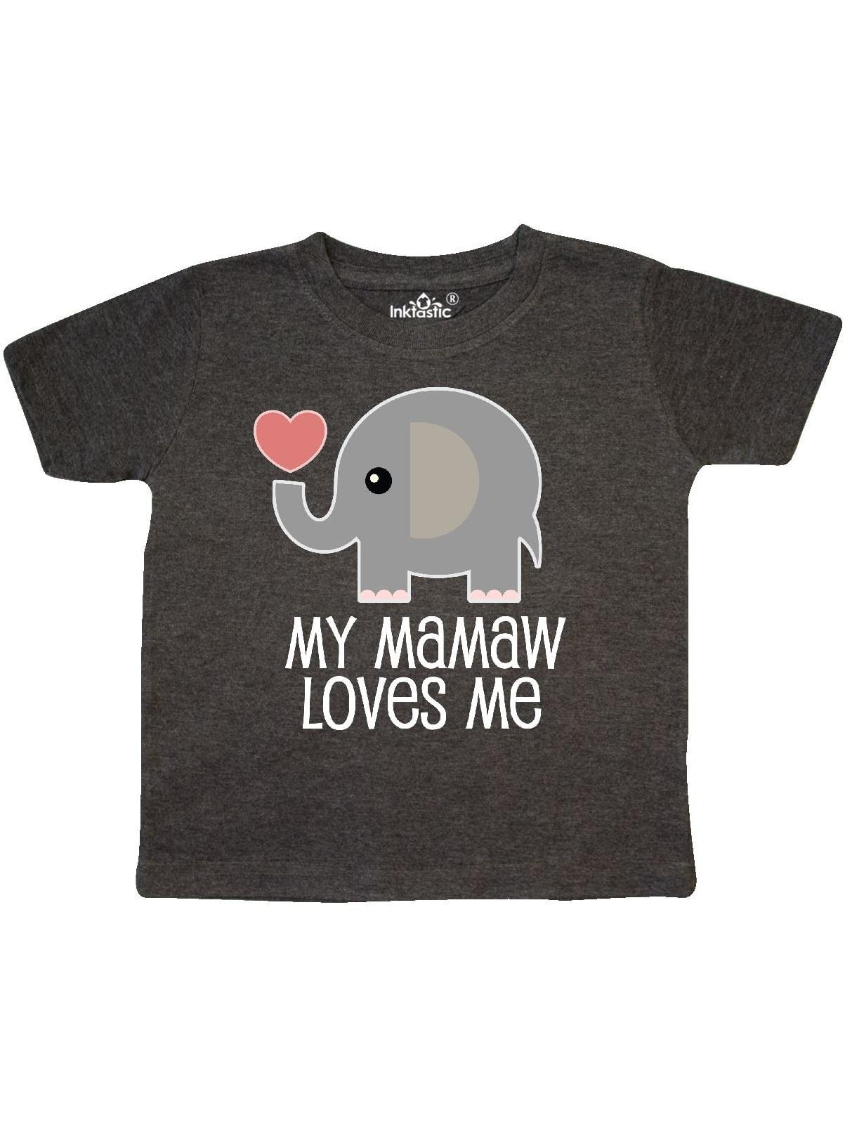 inktastic Mamaw Loves Me Llama Toddler T-Shirt