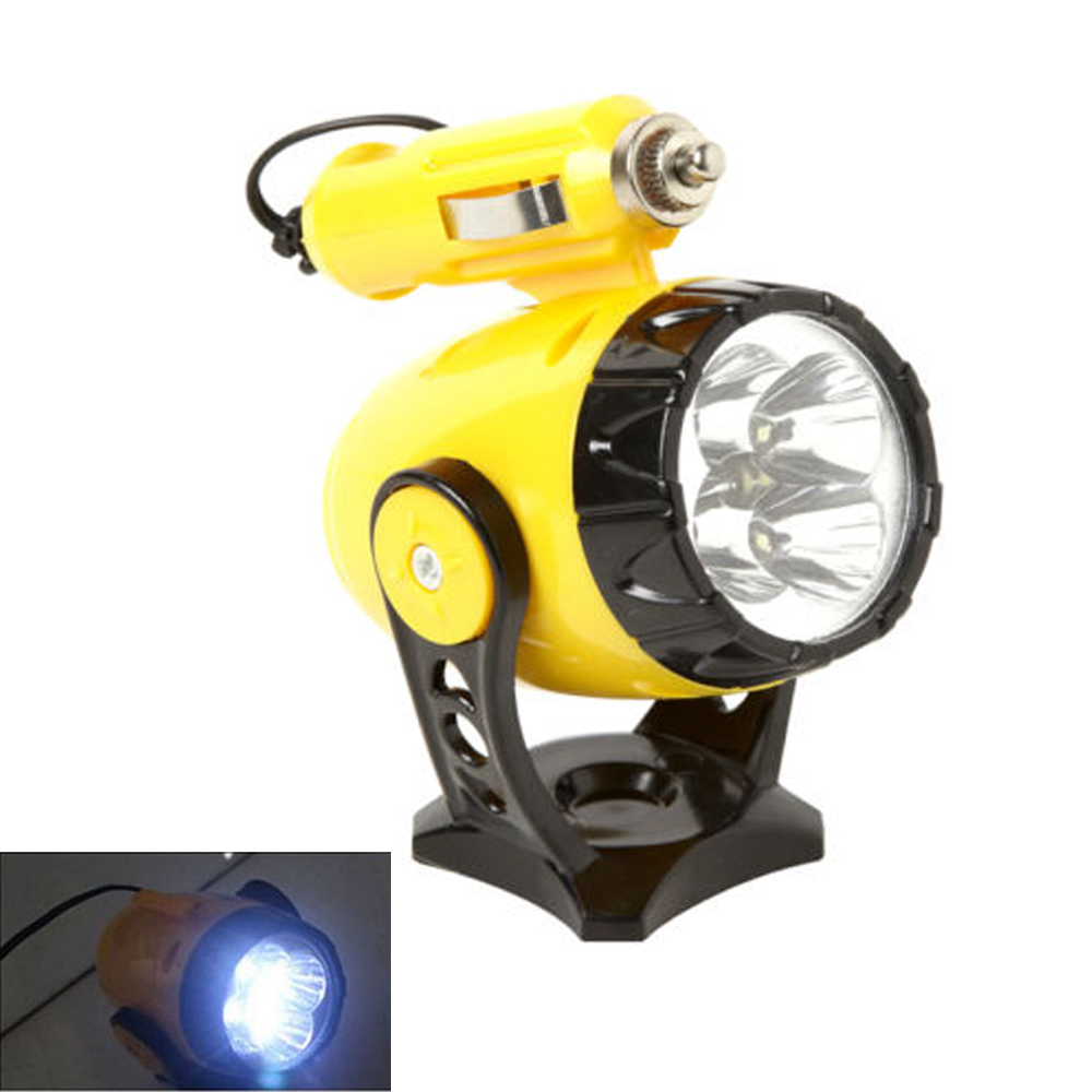 12V 5 LED Flashlight Car Auto Cigarette Lighter Magnetic Emergency Work Light !!