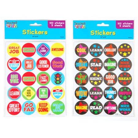 Ddi 1946537 round reward stickers case of 48