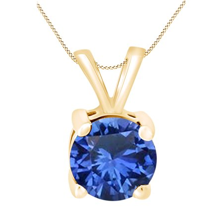 0.34 Carat (Cttw) Round Shape White Natural Diamond Square Pendant Necklace 10K Solid Yellow Gold (Yellow Gold Diamond Square Pendant)