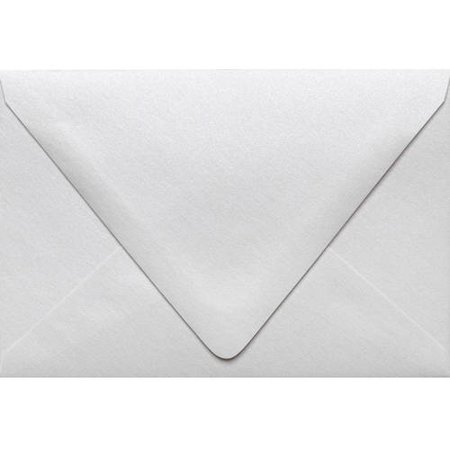 A4 Contour Flap Envelopes (4 1/4 x 6 1/4) - Crystal Metallic (250 Qty.)