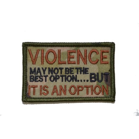 Violence may not be the best option